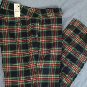 Talbots plaid dress pants